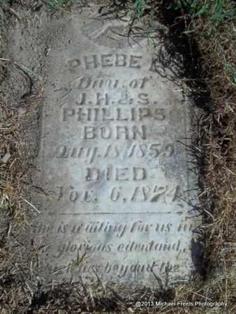 PHILLIPS, PHEBE A - Washington County, Arkansas | PHEBE A PHILLIPS - Arkansas Gravestone Photos