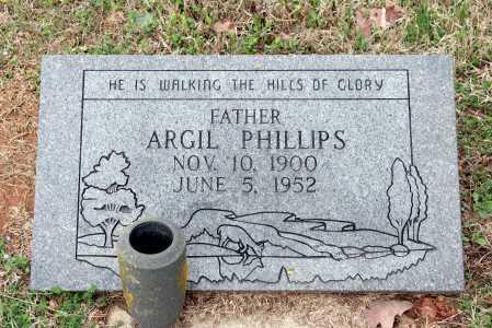 PHILLIPS, ARGIL - Washington County, Arkansas   ARGIL PHILLIPS - Arkansas Gravestone Photos
