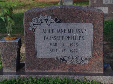 PHILLIPS, ALICE JANE - Washington County, Arkansas   ALICE JANE PHILLIPS - Arkansas Gravestone Photos