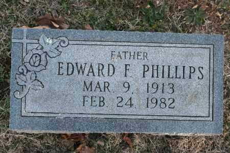 PHILLIPS, EDWARD F. - Washington County, Arkansas | EDWARD F. PHILLIPS - Arkansas Gravestone Photos
