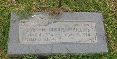 PHILLIPS, GRETTA MARIE - Washington County, Arkansas   GRETTA MARIE PHILLIPS - Arkansas Gravestone Photos