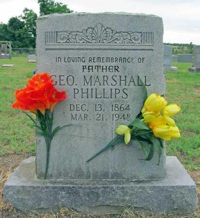 PHILLIPS, GEORGE MARSHALL - Washington County, Arkansas   GEORGE MARSHALL PHILLIPS - Arkansas Gravestone Photos