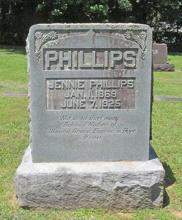 PHILLIPS, JENNIE - Washington County, Arkansas | JENNIE PHILLIPS - Arkansas Gravestone Photos