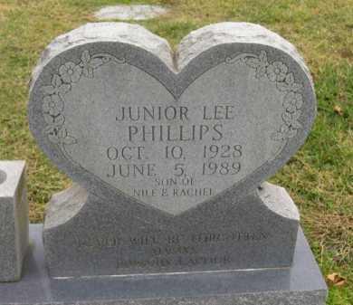 PHILLIPS, JUNIOR LEE - Washington County, Arkansas | JUNIOR LEE PHILLIPS - Arkansas Gravestone Photos