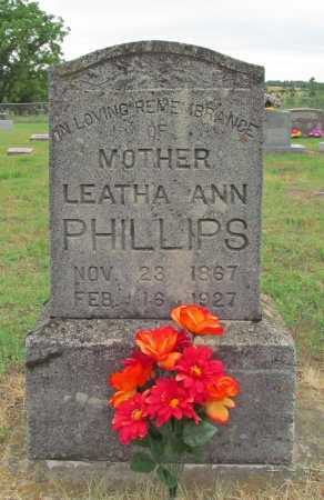 PHILLIPS, LEATHA ANN - Washington County, Arkansas   LEATHA ANN PHILLIPS - Arkansas Gravestone Photos