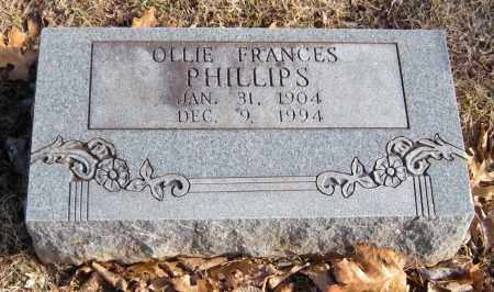 PHILLIPS, OLLIE FRANCES - Washington County, Arkansas   OLLIE FRANCES PHILLIPS - Arkansas Gravestone Photos