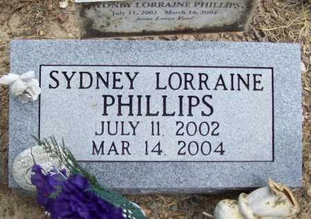 PHILLIPS, SYDNEY LORRAINE - Washington County, Arkansas   SYDNEY LORRAINE PHILLIPS - Arkansas Gravestone Photos