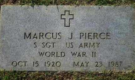 PIERCE (VETERAN WWII), MARCUS J - Washington County, Arkansas | MARCUS J PIERCE (VETERAN WWII) - Arkansas Gravestone Photos