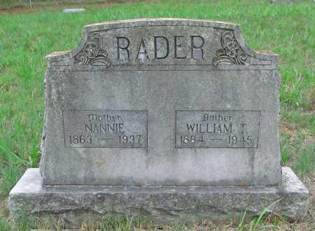 RADER, WILLIAM T - Washington County, Arkansas | WILLIAM T RADER - Arkansas Gravestone Photos