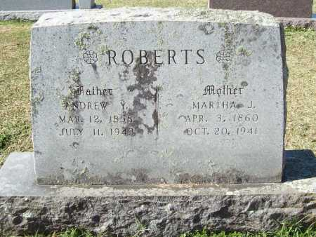ROBERTS, ANDREW Y - Washington County, Arkansas | ANDREW Y ROBERTS - Arkansas Gravestone Photos