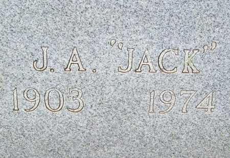 """ROBERTS, J A """"JACK"""" (CLOSEUP) - Washington County, Arkansas   J A """"JACK"""" (CLOSEUP) ROBERTS - Arkansas Gravestone Photos"""