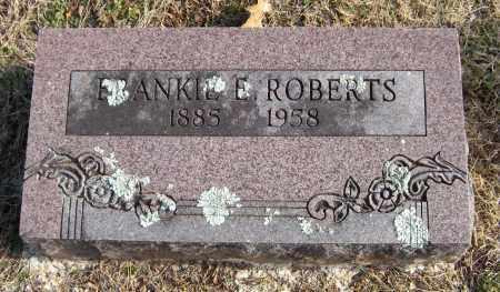 ROBERTS, FRANKIE E - Washington County, Arkansas | FRANKIE E ROBERTS - Arkansas Gravestone Photos