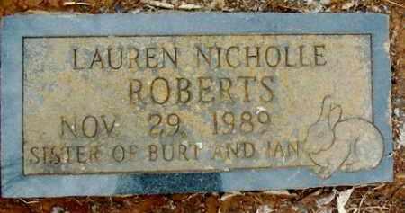 ROBERTS, LAUREN NICHOLLE - Washington County, Arkansas   LAUREN NICHOLLE ROBERTS - Arkansas Gravestone Photos