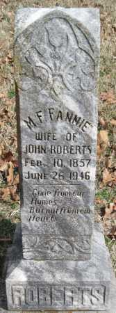 "ROBERTS, M F ""FANNIE"" - Washington County, Arkansas | M F ""FANNIE"" ROBERTS - Arkansas Gravestone Photos"
