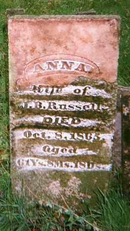 RUSSELL, ANNA - Washington County, Arkansas   ANNA RUSSELL - Arkansas Gravestone Photos