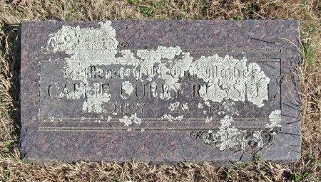 RUSSELL, CAMIE CURRY - Washington County, Arkansas | CAMIE CURRY RUSSELL - Arkansas Gravestone Photos