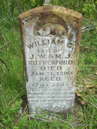 RUTHERFORD, WILLIAM CALLOWAY - Washington County, Arkansas | WILLIAM CALLOWAY RUTHERFORD - Arkansas Gravestone Photos