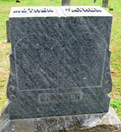 SIMPSON, GEORGE W - Washington County, Arkansas | GEORGE W SIMPSON - Arkansas Gravestone Photos
