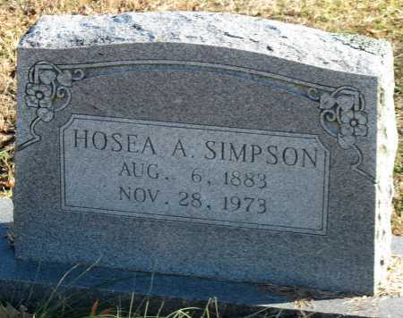 SIMPSON, HOSEA A - Washington County, Arkansas | HOSEA A SIMPSON - Arkansas Gravestone Photos
