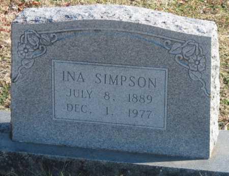 SIMPSON, INA - Washington County, Arkansas | INA SIMPSON - Arkansas Gravestone Photos