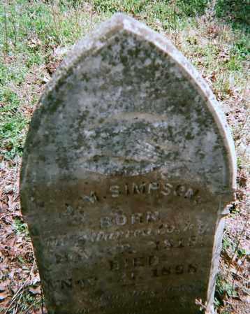SIMPSON, JACK MARROW - Washington County, Arkansas   JACK MARROW SIMPSON - Arkansas Gravestone Photos