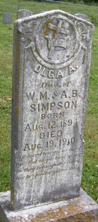 SIMPSON, OLGA A - Washington County, Arkansas | OLGA A SIMPSON - Arkansas Gravestone Photos