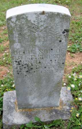 SIMPSON, OLLIE - Washington County, Arkansas   OLLIE SIMPSON - Arkansas Gravestone Photos