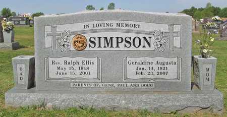 SIMPSON, GERALDINE AUGUSTA - Washington County, Arkansas | GERALDINE AUGUSTA SIMPSON - Arkansas Gravestone Photos