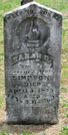 SIMPSON, SARAH D - Washington County, Arkansas   SARAH D SIMPSON - Arkansas Gravestone Photos