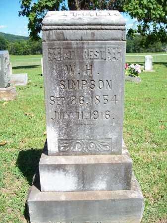 SIMPSON, W. H. - Washington County, Arkansas | W. H. SIMPSON - Arkansas Gravestone Photos