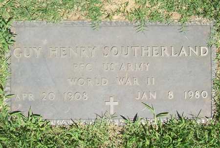 SOUTHERLAND (VETERAN WWII), GUY HENRY - Washington County, Arkansas | GUY HENRY SOUTHERLAND (VETERAN WWII) - Arkansas Gravestone Photos