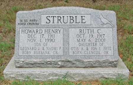 STRUBLE, HOWARD HENRY - Washington County, Arkansas   HOWARD HENRY STRUBLE - Arkansas Gravestone Photos