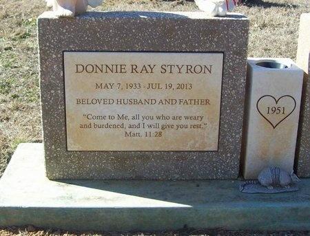 STYRON, DONNIE RAY - Washington County, Arkansas | DONNIE RAY STYRON - Arkansas Gravestone Photos