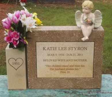 STYRON, KATIE LEE - Washington County, Arkansas | KATIE LEE STYRON - Arkansas Gravestone Photos