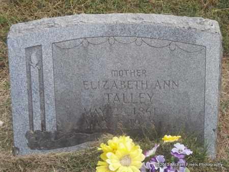 TALLEY, ELIZABETH ANN - Washington County, Arkansas   ELIZABETH ANN TALLEY - Arkansas Gravestone Photos