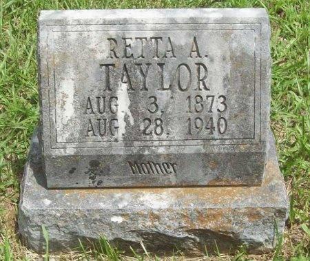 TAYLOR, RETTA A - Washington County, Arkansas | RETTA A TAYLOR - Arkansas Gravestone Photos
