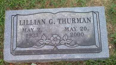 MCADAMS THURMAN, LILLIAN G. - Washington County, Arkansas | LILLIAN G. MCADAMS THURMAN - Arkansas Gravestone Photos