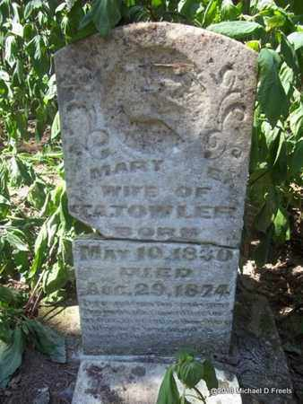 TOWLER, MARY E - Washington County, Arkansas | MARY E TOWLER - Arkansas Gravestone Photos