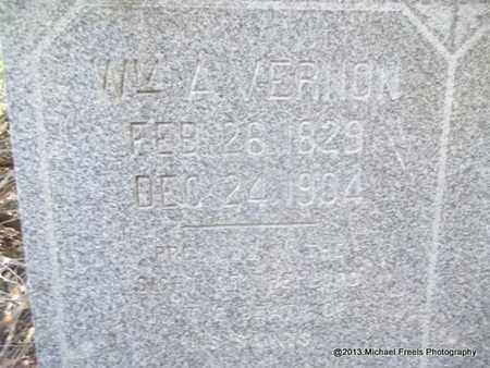 VERNON (VETERAN CSA), WILLIAM ANDERSON (CLOSEUP) - Washington County, Arkansas | WILLIAM ANDERSON (CLOSEUP) VERNON (VETERAN CSA) - Arkansas Gravestone Photos