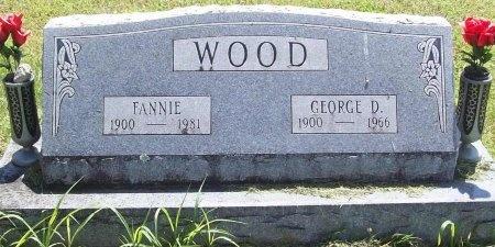 WOOD, FANNIE - Washington County, Arkansas | FANNIE WOOD - Arkansas Gravestone Photos