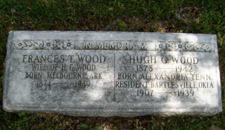 WOOD, FRANCES T - Washington County, Arkansas   FRANCES T WOOD - Arkansas Gravestone Photos