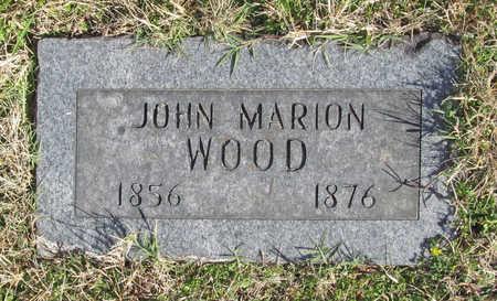 WOOD, JOHN MARION - Washington County, Arkansas | JOHN MARION WOOD - Arkansas Gravestone Photos