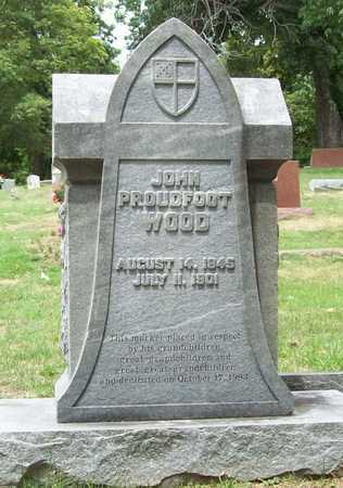 WOOD, JOHN PROUDFOOT - Washington County, Arkansas | JOHN PROUDFOOT WOOD - Arkansas Gravestone Photos