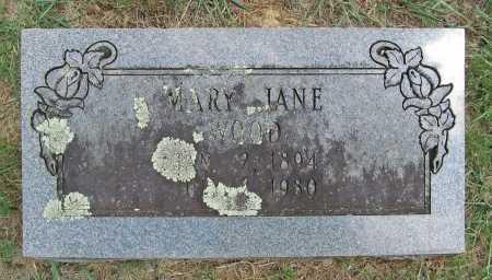 WOOD, MARY JANE - Washington County, Arkansas   MARY JANE WOOD - Arkansas Gravestone Photos