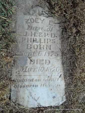 PHILLIPS, ZOEY E - Washington County, Arkansas | ZOEY E PHILLIPS - Arkansas Gravestone Photos