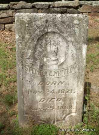 WHITLOW, STEPHEN C - White County, Arkansas | STEPHEN C WHITLOW - Arkansas Gravestone Photos