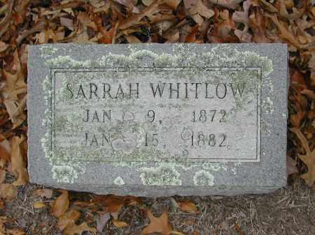WHITLOW, SARRAH - White County, Arkansas | SARRAH WHITLOW - Arkansas Gravestone Photos