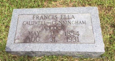 CALDWELL ADCOCK, FRANCES ELLA CUNNINGHAM - White County, Arkansas   FRANCES ELLA CUNNINGHAM CALDWELL ADCOCK - Arkansas Gravestone Photos