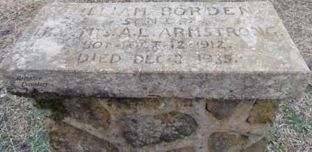ARMSTRONG, WILLIAM BORDEN - White County, Arkansas | WILLIAM BORDEN ARMSTRONG - Arkansas Gravestone Photos