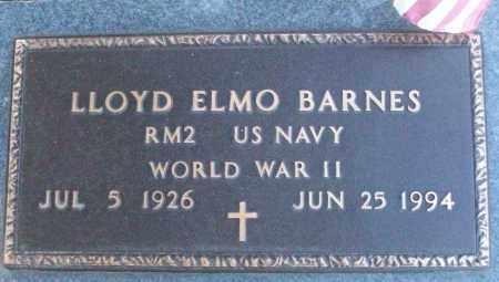 BARNES (VETERAN WWII), LLOYD ELMO - White County, Arkansas | LLOYD ELMO BARNES (VETERAN WWII) - Arkansas Gravestone Photos